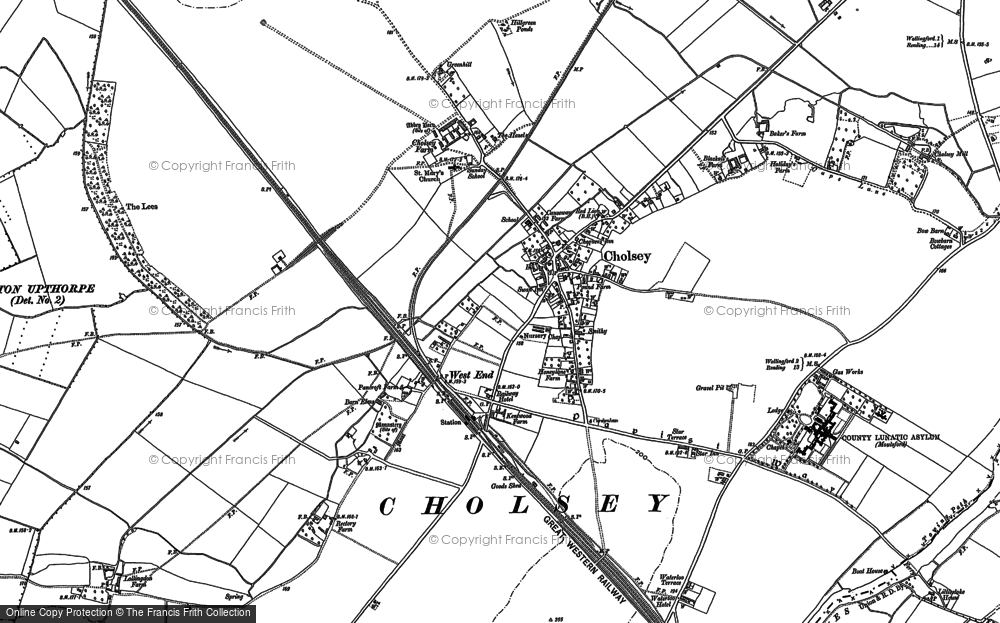Old Map of Cholsey, 1910 in 1910