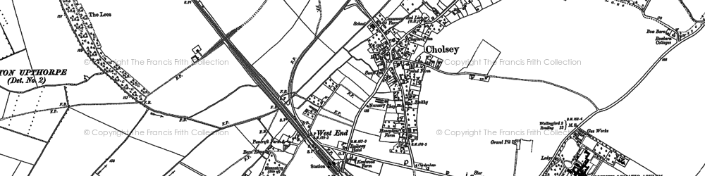 Old map of Cholsey in 1910