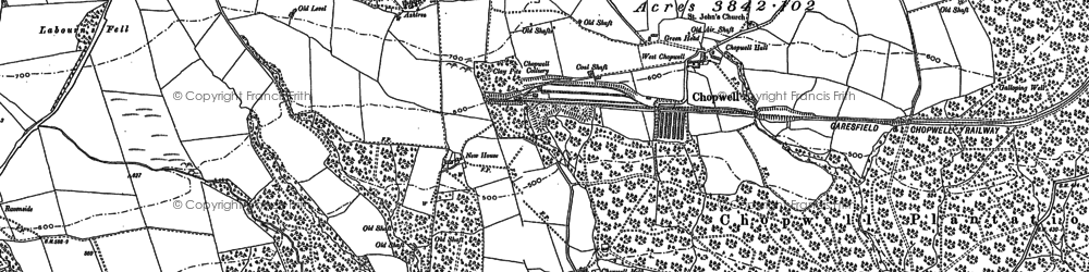 Old map of Ashtree in 1915