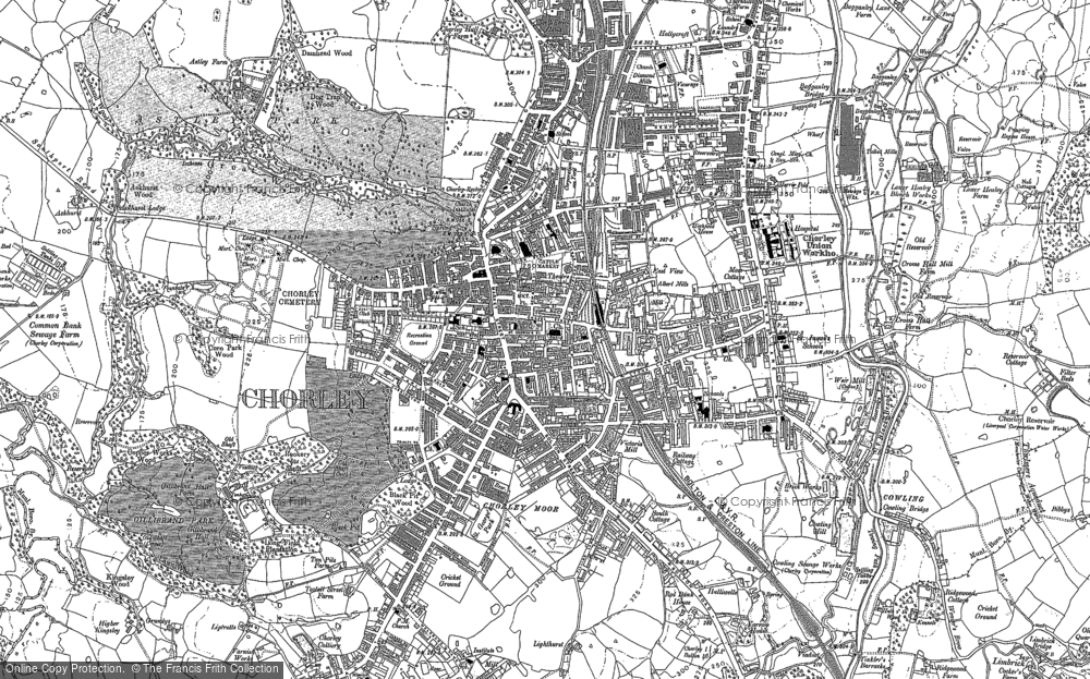 Old Map of Historic Map covering Astley Hall in 1893