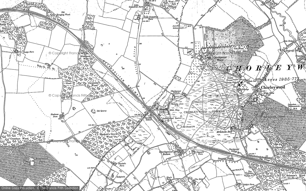 Old Map of Chorleywood, 1913 in 1913