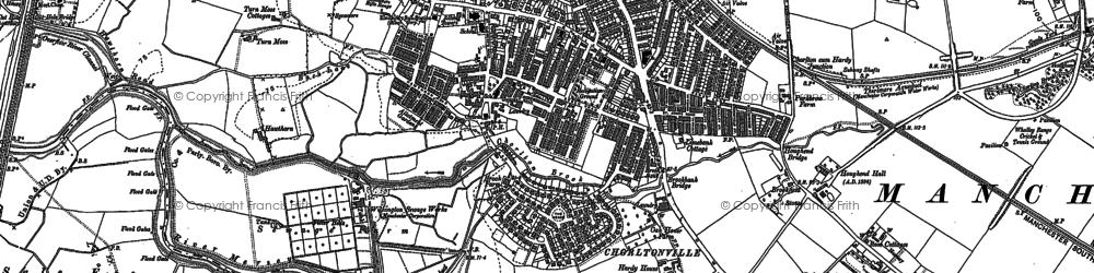 Old map of Barlow Moor in 1905