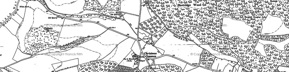 Old map of White Mark in 1897