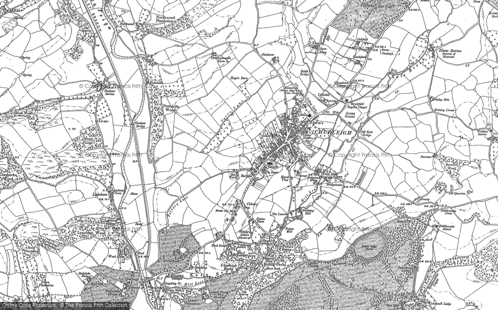 Old Map of Historic Map covering Lawell Ho in 1887