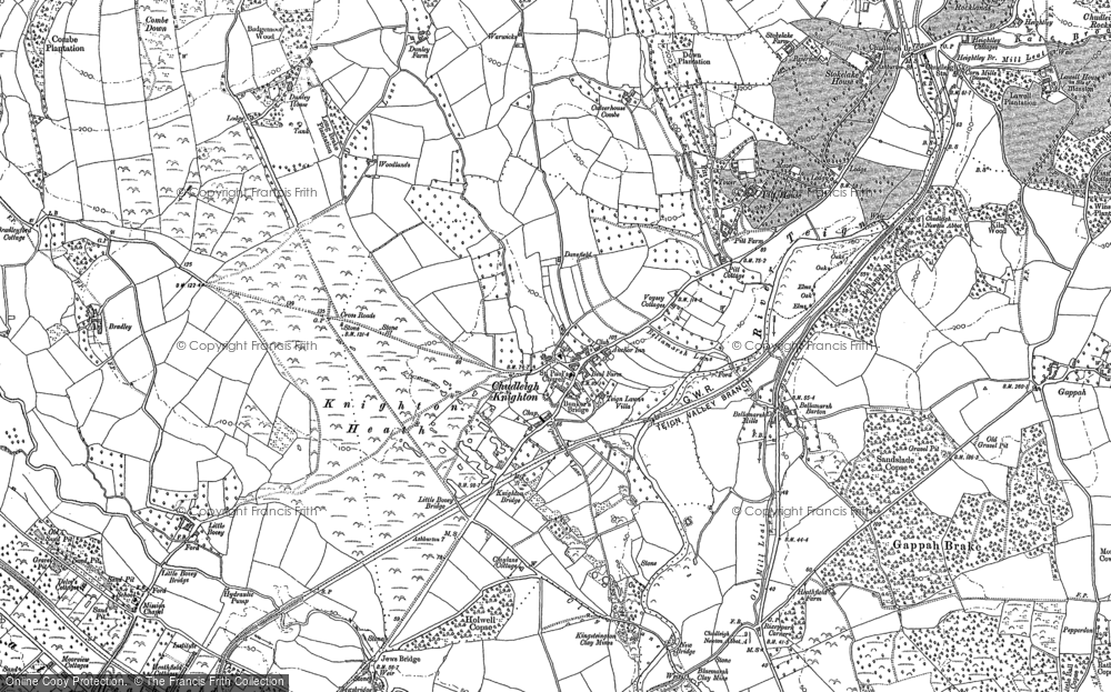 Old Map of Chudleigh Knighton, 1887 in 1887