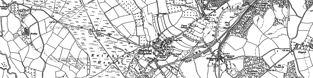 Old map of Chudleigh Knighton in 1887