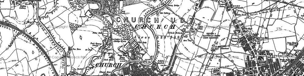 Old map of Church in 1891