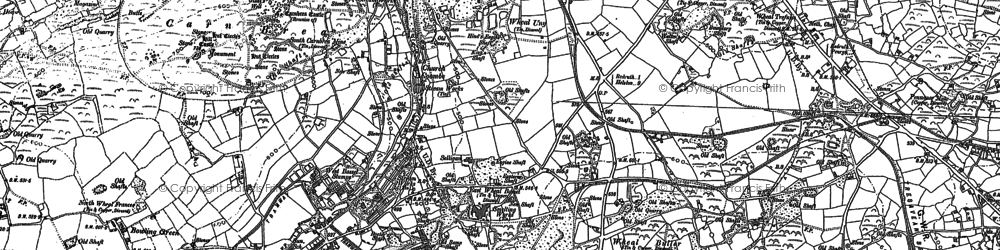 Old map of Church Coombe in 1878