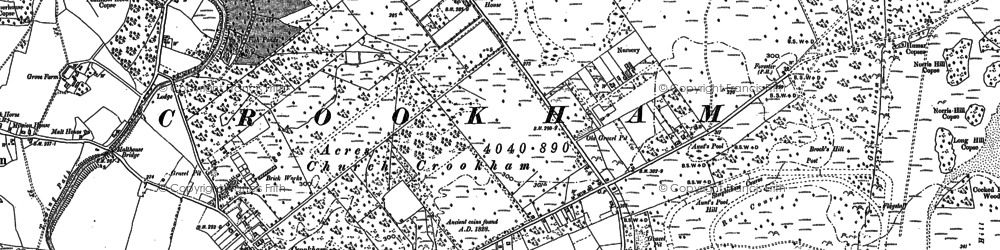 Old map of Aunt's Pool Hill in 1909