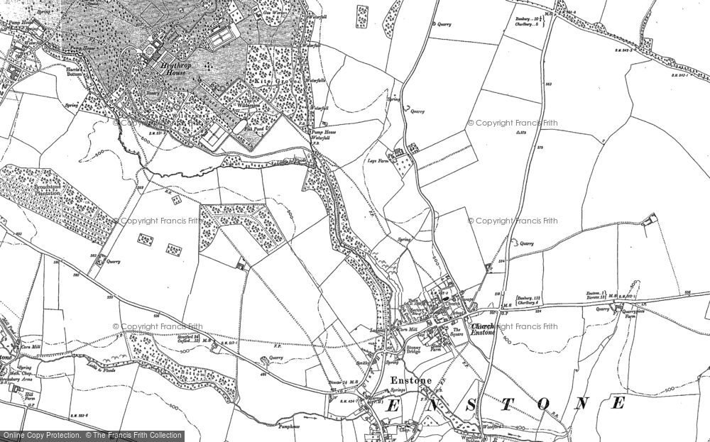 Old Map of Church Enstone, 1898 in 1898