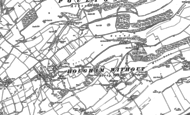 Old Map of Church Hougham, 1896 - 1906