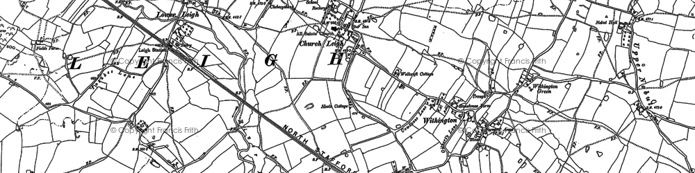 Old map of Withington in 1880