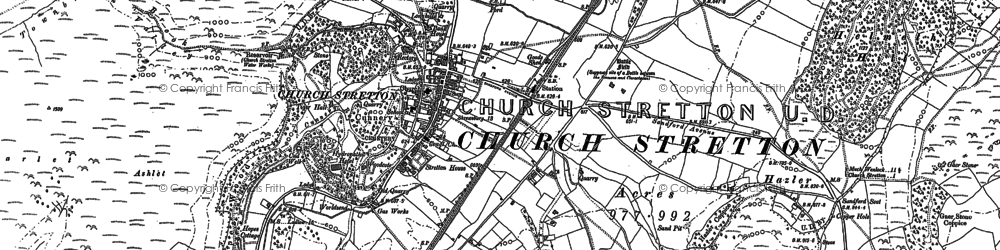 Old map of Church Stretton in 1882