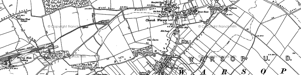 Old map of Askew Spa in 1895