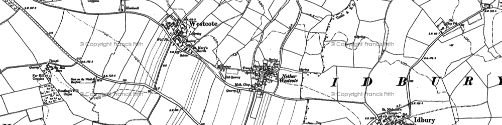 Old map of Church Westcote in 1900