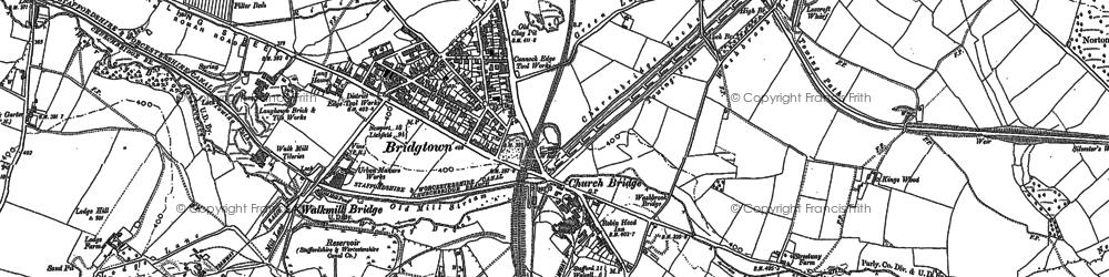 Old map of Churchbridge in 1883
