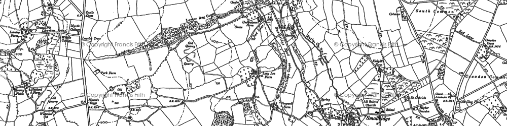 Old map of Churchill in 1903