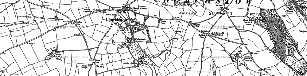 Old map of Worthy in 1884