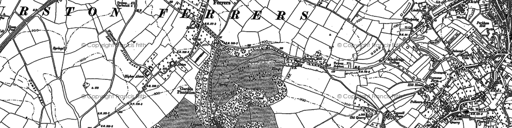 Old map of Churston Ferrers in 1933