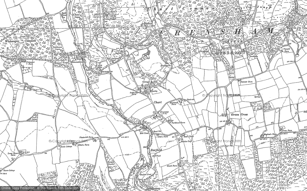Old Map of Historic Map covering Barford in 1913