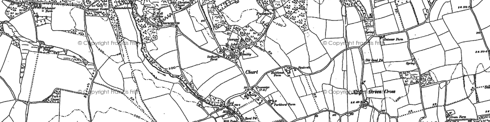 Old map of Crossways in 1913