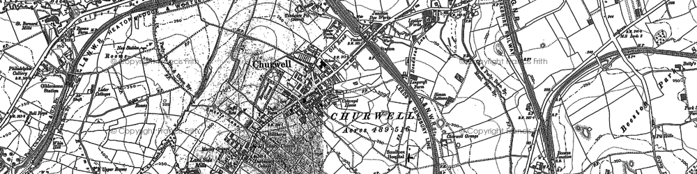 Old map of White Rose Centre in 1847