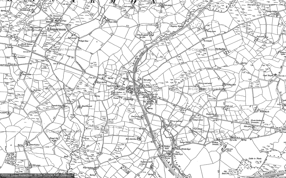Old Map of Chwilog, 1888 - 1899 in 1888