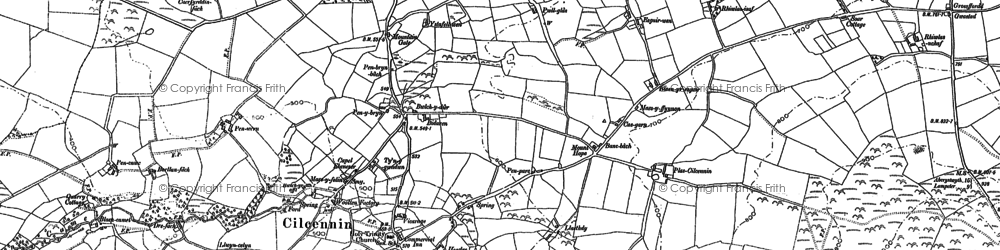 Old map of Allt y Fron in 1887
