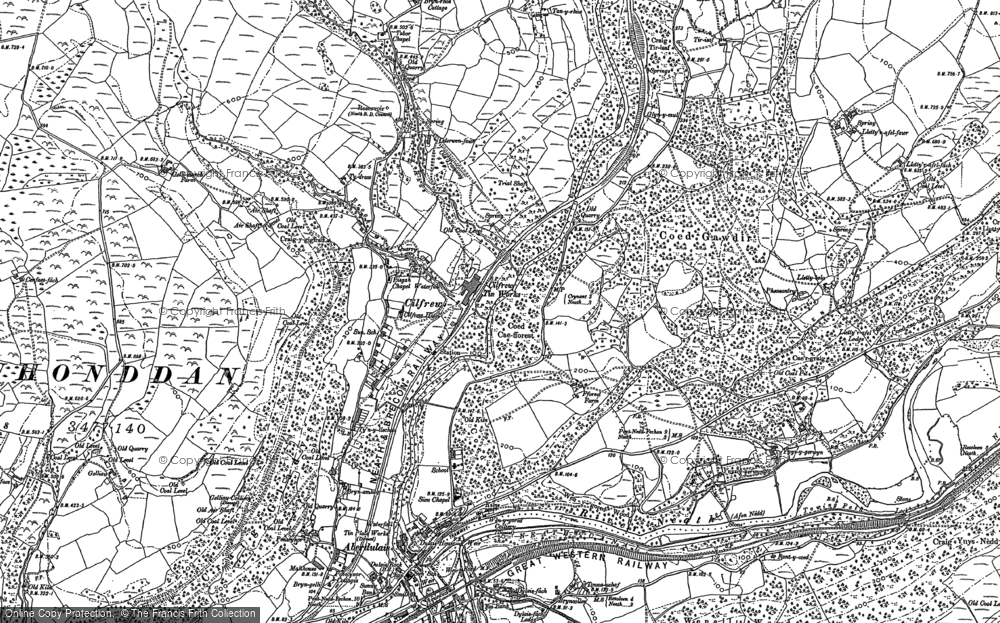 Old Map of Cilfrew, 1897 in 1897