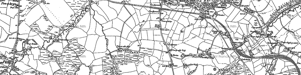 Old map of Allt-y-rheiny in 1904