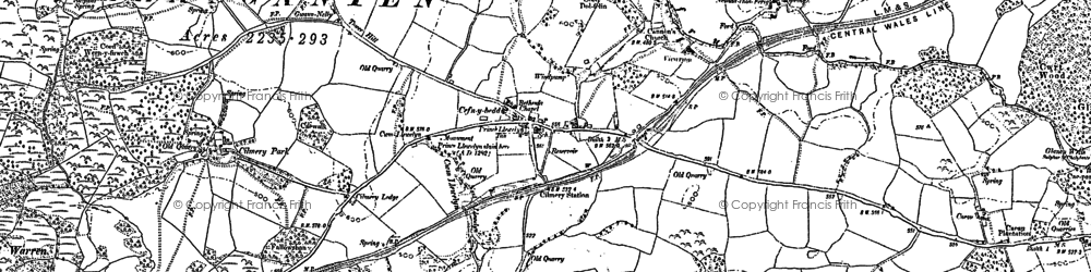 Old map of Cilmery in 1903