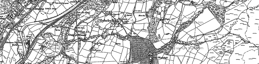 Old map of Wigfa in 1897