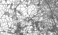 Old Map of Cinder Hill, 1884 - 1885