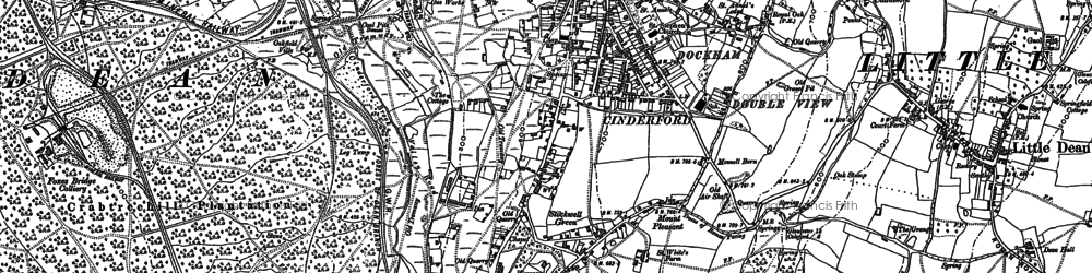 Old map of Cinderford in 1901
