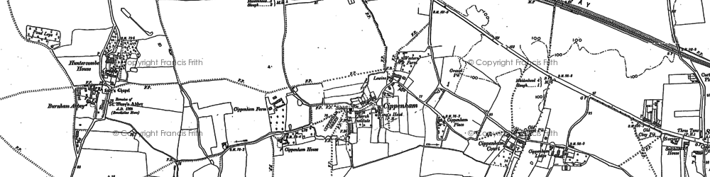 Old map of Cippenham in 1897