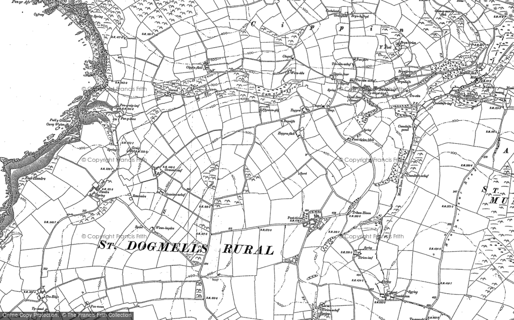 Old Map of Historic Map covering Allt-y-goed in 1904