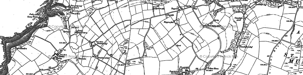 Old map of Allt-y-goed in 1904