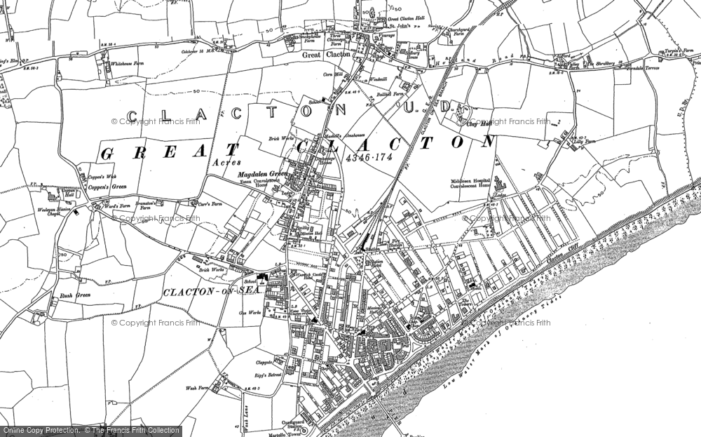 old maps of clacton on sea francis frith. Black Bedroom Furniture Sets. Home Design Ideas