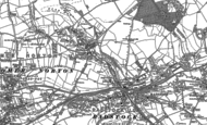 Old Map of Clandown, 1884