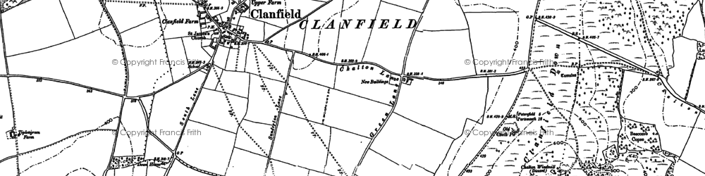 Old map of Windmill Hill in 1908