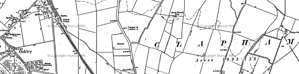 Old map of Woodlands Park in 1882