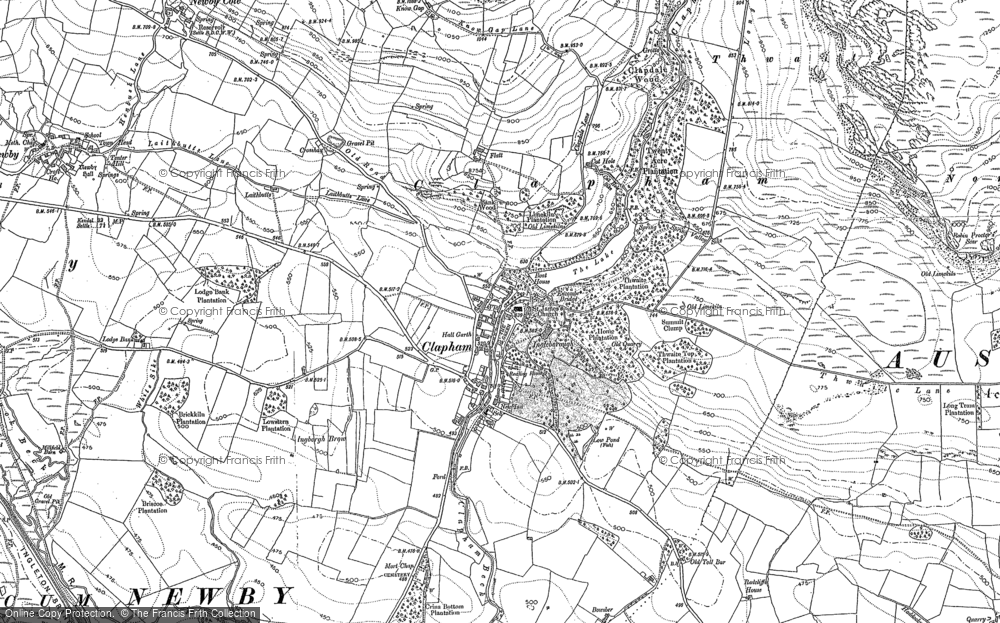 Old Map of Historic Map covering Thwaite in 1907