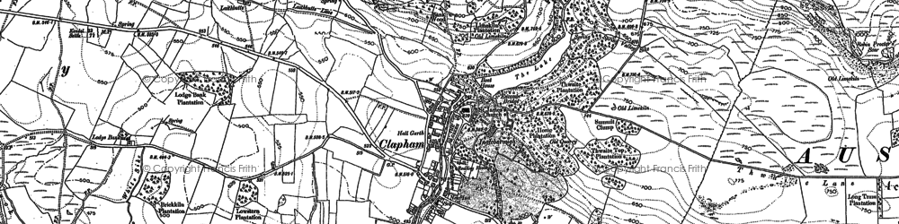 Old map of Clapham in 1907