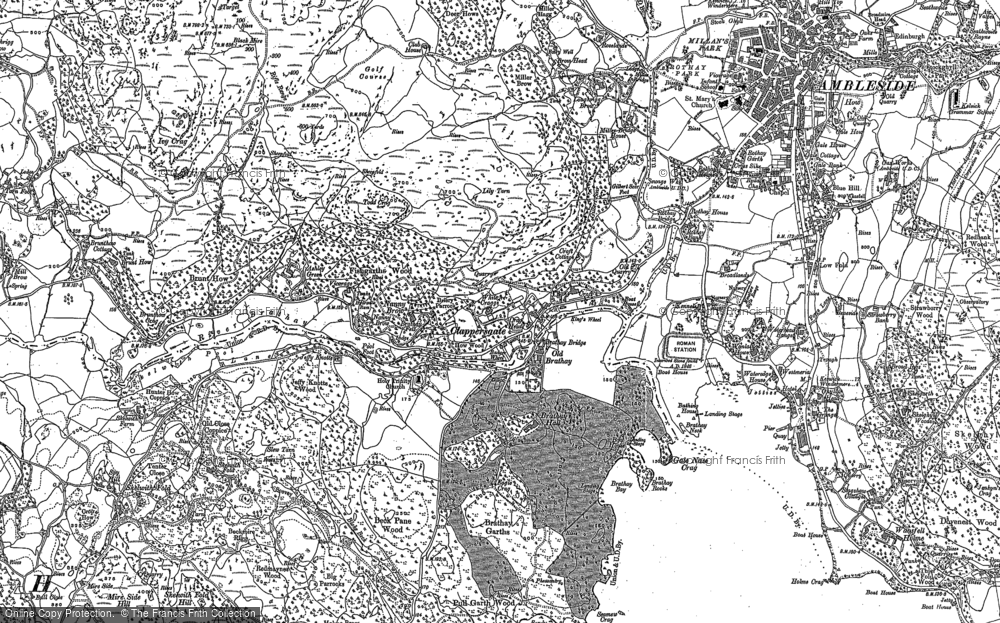 Old Map of Historic Map covering Ashley Green in 1912