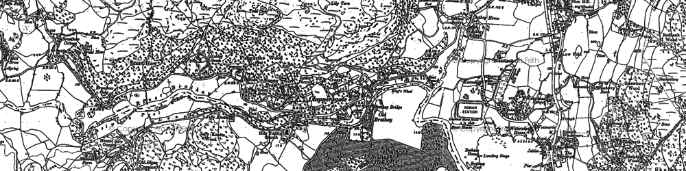 Old map of Todd Crag in 1912