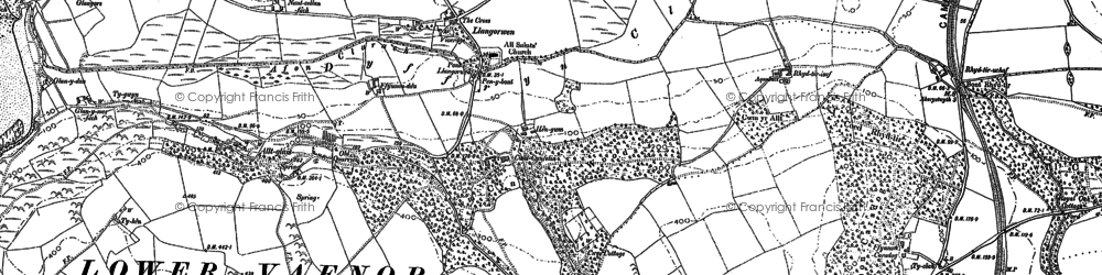 Old map of Afon Clarach in 1904