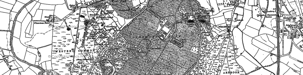 Old map of Claremont Park in 1895