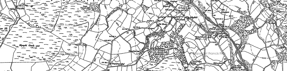 Old map of Allt y Genlli in 1885