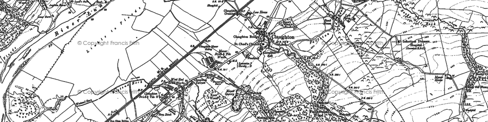 Old map of Aughton in 1910