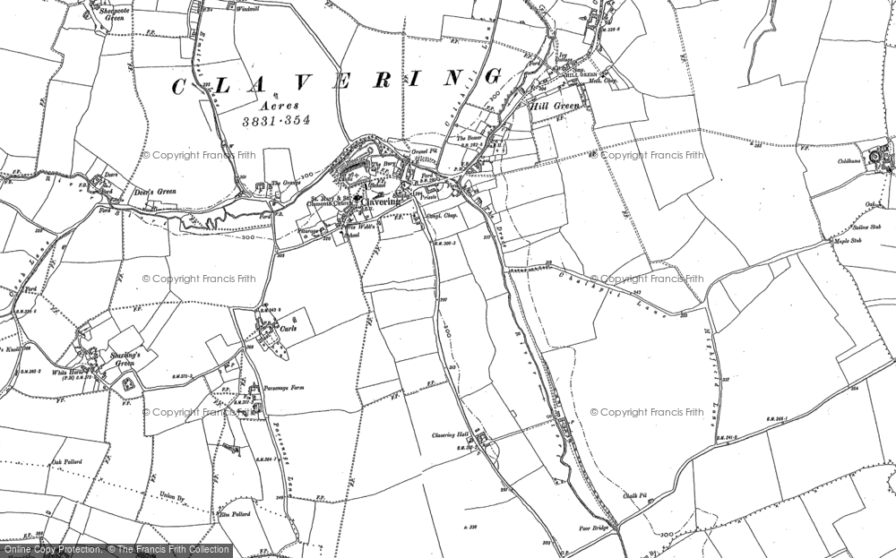 Old Map of Historic Map covering Thurrocks in 1896
